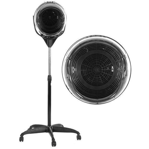 Professional Salon Floor Bonnet Adjustable Stand Up Rolling Hair Dryer 1000W Heat Settings 3