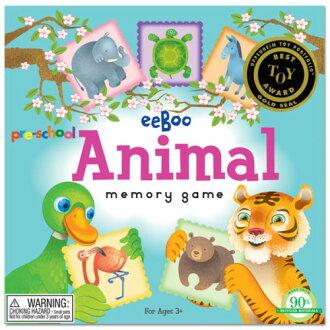 eeBoo 美國益智桌遊 學齡前記憶遊戲 – 動物款 Pre-School Animal Memory Game