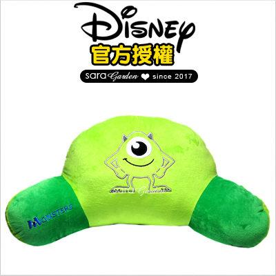 SaraGarden:正版迪士尼Disney大眼仔刺繡坐墊靠枕午睡枕抱枕靠枕汽車辦公室柔軟絨毛