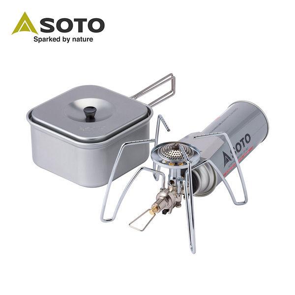 SOTO 輕便型戶外休閒組合(蜘蛛爐+方形鍋)ST-310CS - 限時優惠好康折扣
