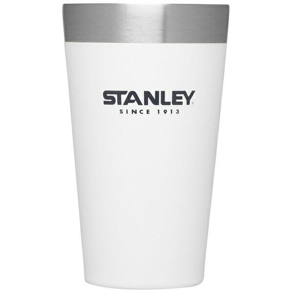 【【蘋果戶外】】Stanley1002282白470ml美國冒險系列真空品脫杯咖啡杯保溫杯保冰保冷隨手杯10-02282