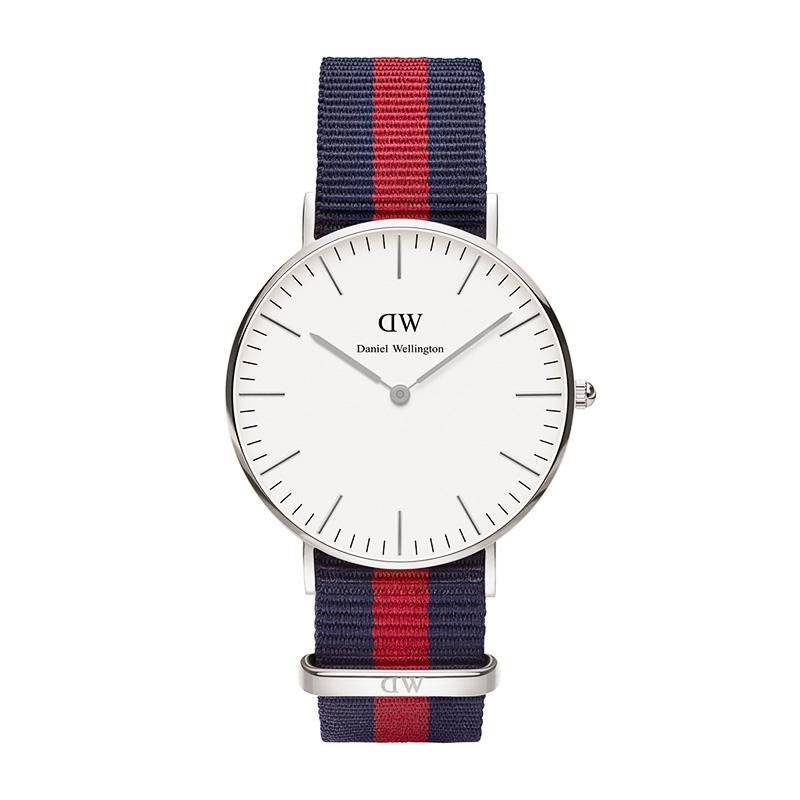 瑞典正品代購 Daniel Wellington 0601DW 銀  尼龍 帆布錶帶 女錶手錶腕錶 36MM 1