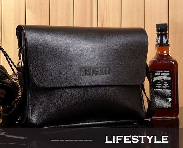 Men Leather Handbag Messenger Shoulder Briefcase 3