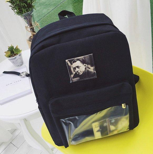 【JP.美日韓】高級好看 魔鬼沾 後背包 貼布 電腦包 韓國 進口布料 包包 男