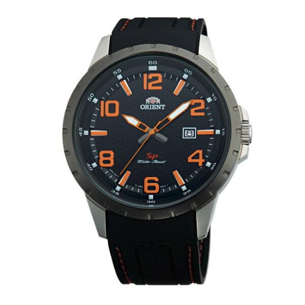 ORIENT東方錶ORIENT東方錶SP系列(FUNG3004B)數字日期顯示運動石英錶橡膠錶帶款橘色43.9mm