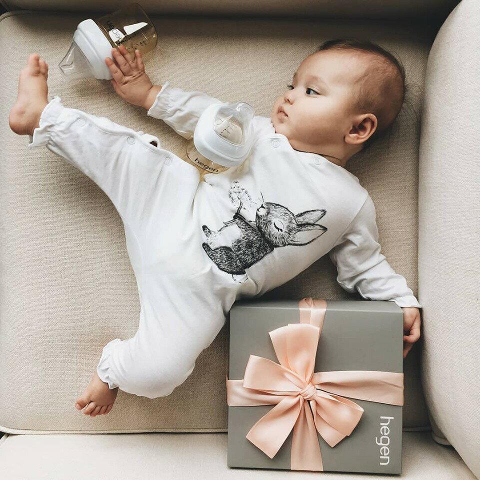 贈原廠紙袋【Hegen】祝賀新生經典奶瓶安心禮 新生禮盒 小金奶瓶-米菲寶貝 4