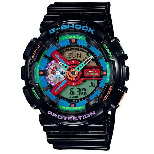 CASIO G~SHOCK超 雙顯立體 腕錶 GA~110MC~1A