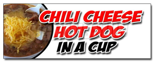 """36"""" CHILI CHEESE HOT DOG IN A CUP DECAL sticker all beef franks snack food 8138f4e6581e13a03d9a1dee6c207992"""