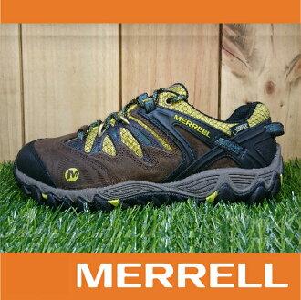 【3月 MERRELL限時7折】MERRELL ALL OUT BLAZE GORE-TEX防水 男款低筒登山健行鞋 黃金大底 咖啡色 萬特戶外運動