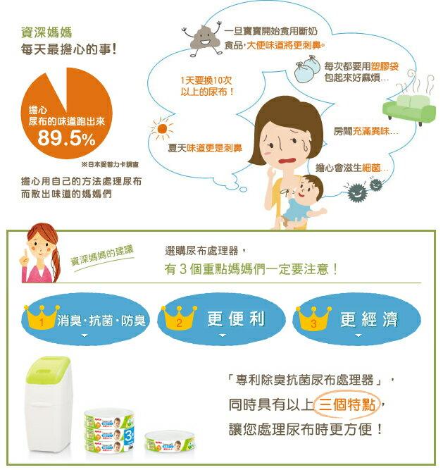 Aprica愛普力卡 - 專利除臭抗菌尿布處理器 (新配方) 2