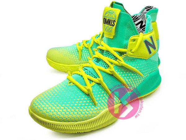 2019 最新 NBA 總冠軍 Kawhi Leonard 強力代言 NEW BALANCE OMN1S 綠黃 全腳掌的 FUELCELL 緩震科技 MVP 籃球鞋 紐巴倫 小可愛 (BBOMNXSN) 1219NBA 1