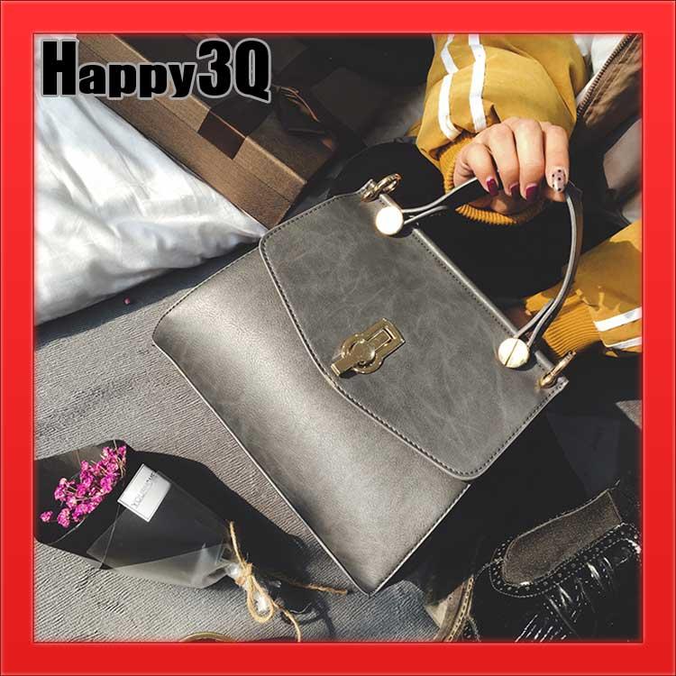 歐美時尚潮流名媛復古多層精緻金屬凱莉包側背包手提包-黑/灰/棕/綠【AAA1138】