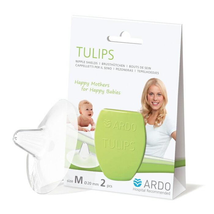 ARDO安朵 - Tulips Nipple Shields 鬱金香乳頭保護罩 / 2入 M - 限時優惠好康折扣