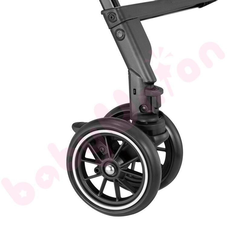 【點數下單送咖啡】Combi康貝 - Handy Auto 4 Cas PLUS 輕量四輪自動鎖放手推車 琥珀褐 1