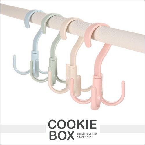 多功能 360度 旋轉 衣物 收納架 衣櫃 掛勾 衣架 曬衣 收納 耐用 簡約風 *餅乾盒子*