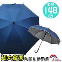 下雨天推薦雨靴/雨傘/雨衣推薦[Kasan] 超大傘面防風自動雨傘-深藍