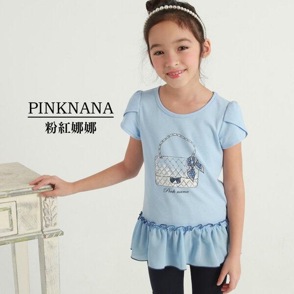 PINKNANA童裝-大童夏天可愛提包長上衣36112