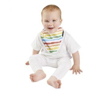 紐西蘭 MUM 2 MUM 雙面竹纖維棉機能口水巾圍兜 彩虹/星星 ZMU363390 好娃娃