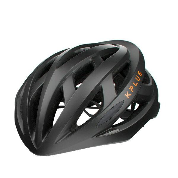 【7號公園自行車】KPLUSVITA基本款自行車專用安全帽(黑橘)