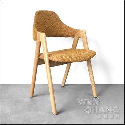 丹麥舊貨 復古 工業 風格 Kai Kristiansen SVA Mobler 餐椅 書房椅 亞麻布 複刻版《特價》CH020 *文昌家具*