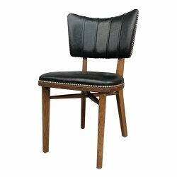 復古搖滾工業風 鉚釘 爆裂紋 黛安娜 餐椅 皮革 美甲椅 化妝椅 CH061 *文昌家具*