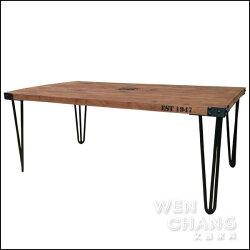 訂製品 LOFT 公路66噴漆做舊大茶几 金屬x木材 材質混搭 CU007 *文昌家具*