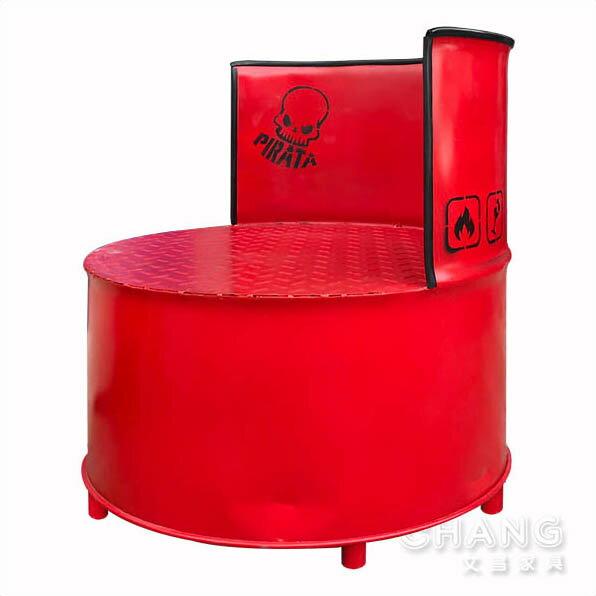 訂製品 美式鄉村 復古仿舊 油桶系列家具 油桶半桶椅 CU018-C *文昌家具*