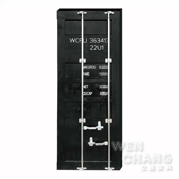 訂製品美式木質雙面貨櫃門片滑軌門拉門CU045*文昌家具*