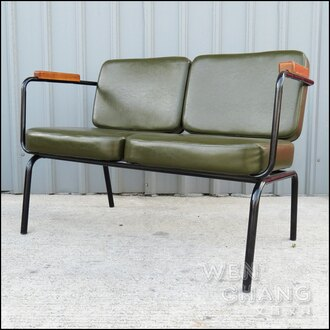 LOFT 50年代 復古風采 老上海 雙人沙發 休閒椅 老沙發 SO016-2《特價》 *文昌家具*