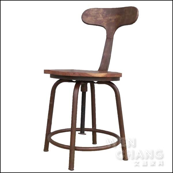 LOFT 工業風 希特ET旋轉椅 仿舊 ST050 文昌家具