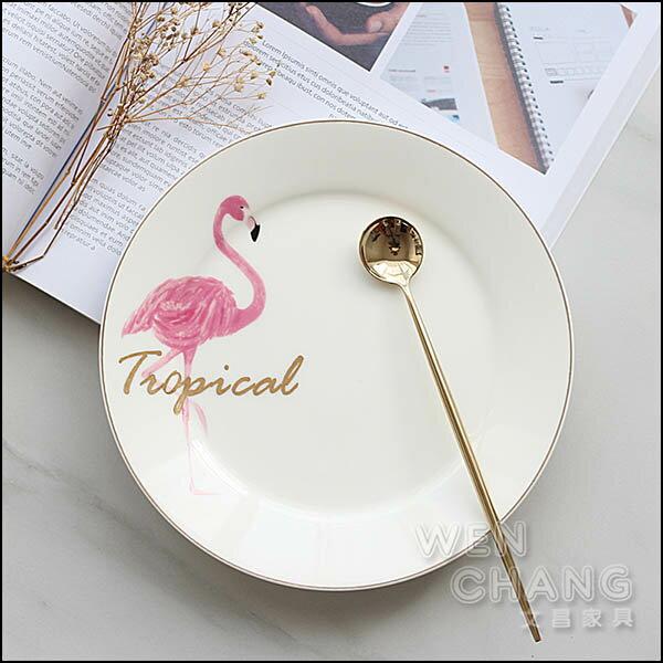 紅鶴金邊骨瓷圓盤 早餐盤 西餐牛排平盤 Z120 *文昌家具*