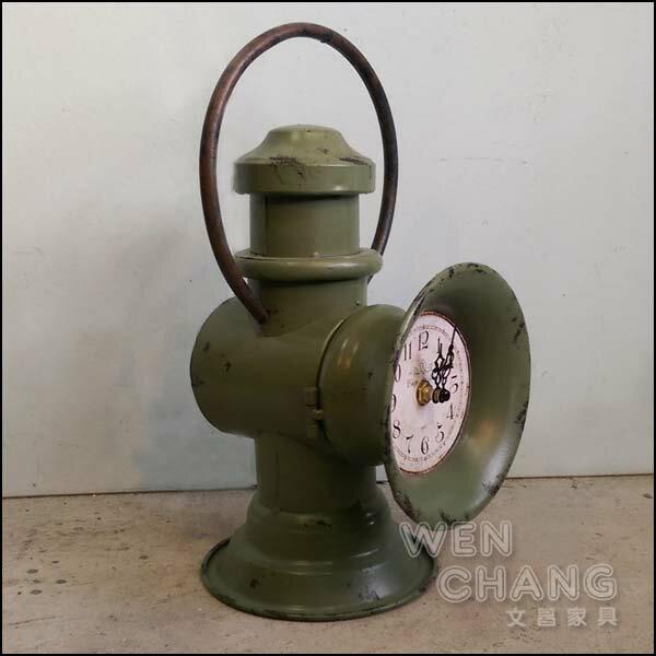 LOFT 美式鄉村工業風 復古油燈造型時鐘 桌鐘 裝飾品 特價 油燈鐘 Z12 *文昌家具*