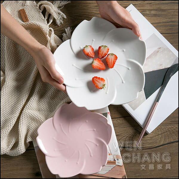 陶瓷櫻花盤蛋糕盤甜點盤大款兩色Z135-B*文昌家具*
