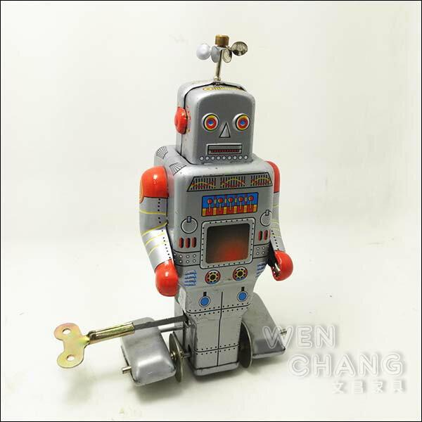 復古工業風 3~40年代 懷舊 發條 天線 鐵皮機器人B款 Z029 *文昌家具*