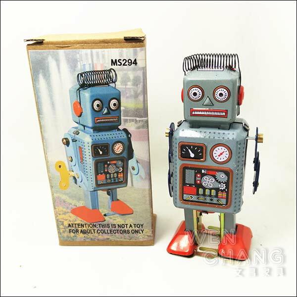 復古工業風 3~40年代 懷舊 鐵皮機器人D款 Z031 *文昌家具*