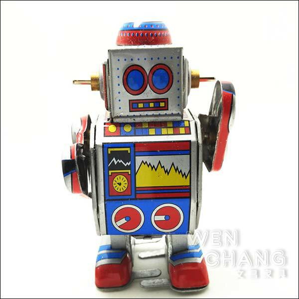 復古工業風 3~40年代 懷舊 發條 鐵皮機器人E款 Z032 *文昌家具*