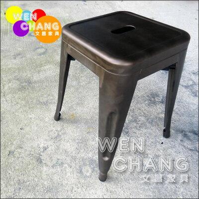 *文昌家具*tolix系列 45CM 鐵凳 鐵椅 可堆疊 白色 復刻版ST001-RS 《特價》