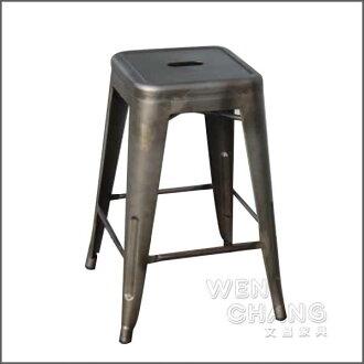 *文昌家具*Tolix H Stool 法國工業風 60cm吧台椅 鏽化鋼鐵 復刻版 st002-rs 《特價》