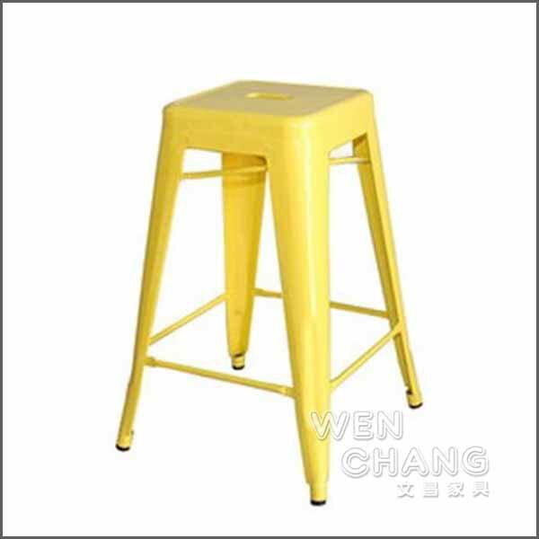 *文昌家具*法國工業風格鐵椅 Tolix H Stool 75高 鐵凳 可堆疊 複刻版《特價》st003
