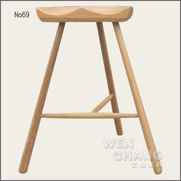 丹麥15世紀流傳ShoemakerChair鞋匠椅三腳椅凳No69ash材質複刻版全新到貨ST027*文昌家具*