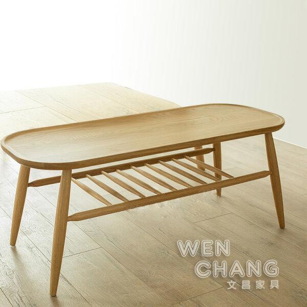 *文昌家具* 北歐風100%白橡木小餐桌-ST039