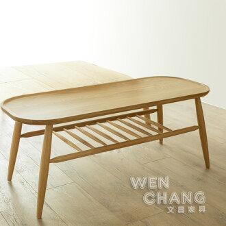 北歐風 100%北美丹娜白橡木雙層長凳 ST-038 *文昌家具*