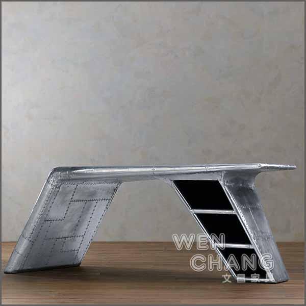 RHtable戰鬥機鋁皮飛行員書桌辦公桌限量兩張TB025*文昌家具*