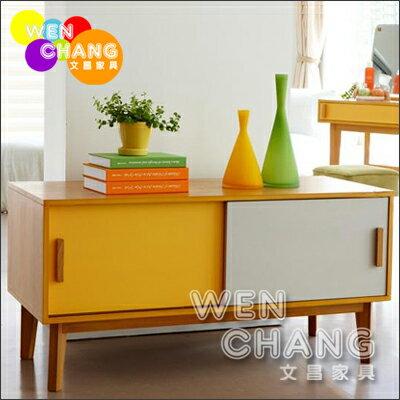 *文昌家具*日韓式 風格 撞色 套房組 繽紛3色 電視櫃 儲物櫃