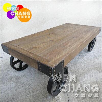LOFT 工業復古風 英式鄉村風格 板車 造型 大茶几 *文昌家具* TTB002