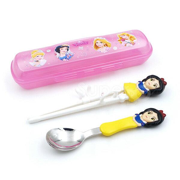 Disney迪士尼3D學習筷湯匙組-白雪公主(附收納盒)【悅兒園婦幼生活館】