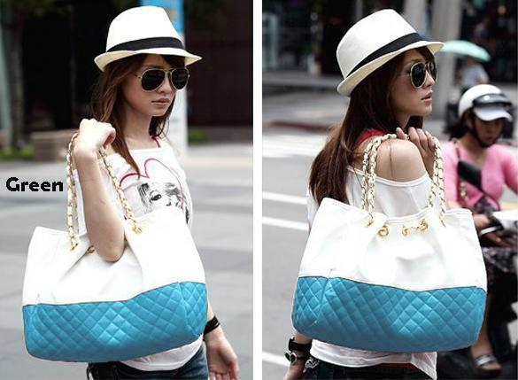 Girl Oversized Bag Shoulder Handbag Chain Straps 1