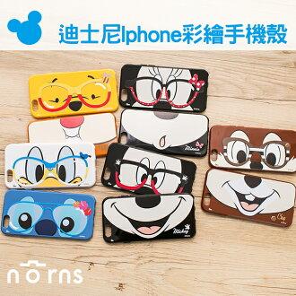 NORNS 【迪士尼Iphone彩繪手機殼】眼鏡米妮 嘴巴米奇 維尼 iPHONE 6 6s 6Plus 6s Plus
