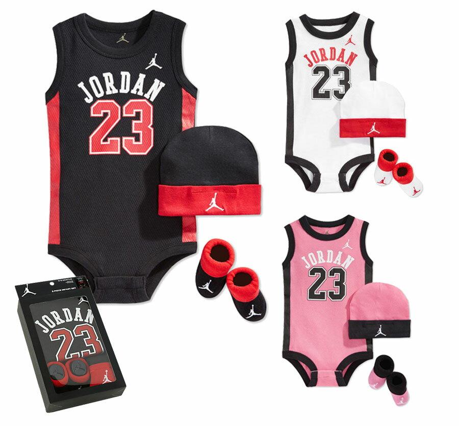 ~~美國NIKE Jordan新生兒 組~ 三件入 背號23籃球背心款 彌月滿月禮 美國專