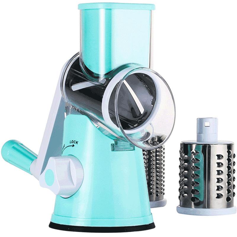【三合一切菜機】滾筒切菜器 切菜機 磨泥器 切片器 刨絲器 廚房神器【AB441】